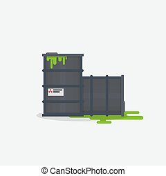 Toxic barrels illustration