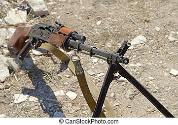 máquina,  rpk, arma de fuego