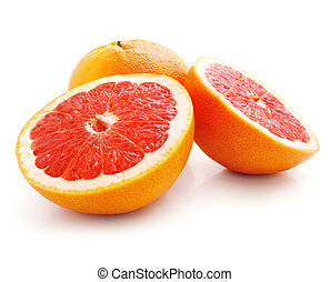 fresh grapefruit fruit with cut