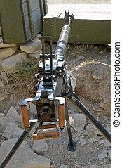 Machine Gun - DShK 1938 Soviet heavy machine gun firing the...