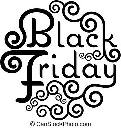Black Friday Sale vector text Vintage Calligraphy Lettering...