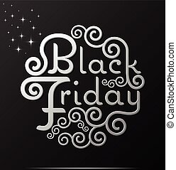 Black Friday vector text Vintage Calligraphy Lettering...