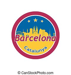 Barcelona in round icon.