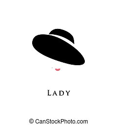 Lady in hat.