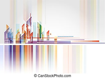 Abstract Building and City Illustration