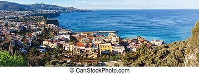 Amalfi Coast, Sorrento, Italy. - Sorrento town coast view...