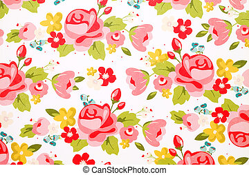 rose flower pattern paper texture background