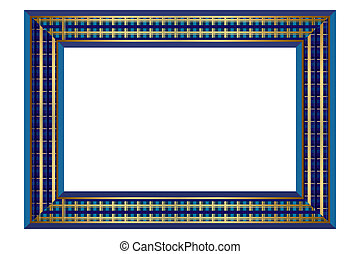 Check Blue Pattern Frame