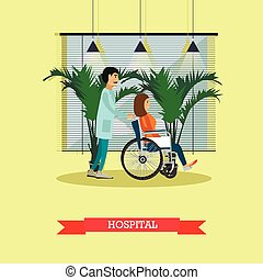 Hospital concept. Patient ready for medical check up ....