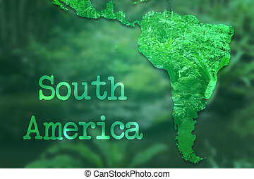 South America Map Background