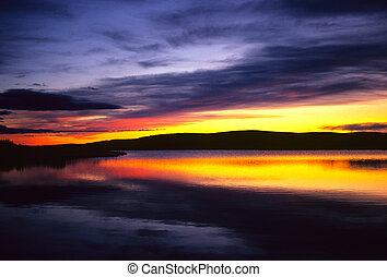 Sunrise over a Lake - a beuatiful sunrise over a texas lake