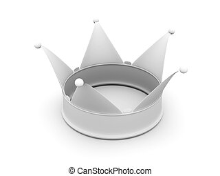Crown - 3D rendered Illustration Isolated on white