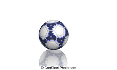 Bouncing soccer ball - Bouncing and rolling on a surface of...