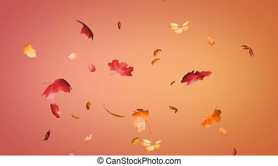Falling leaves seamless loop
