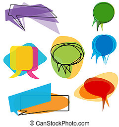 Abstract speech and thought balloons - A set of abstract...
