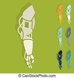 Flat design: prosthetic