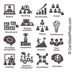 Business management icons. Pack 30. - Business management...