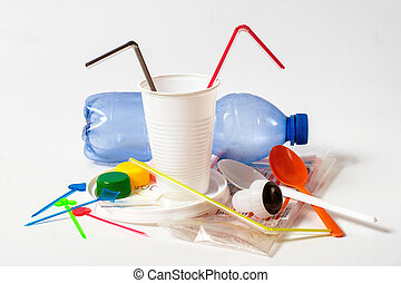household plastic waste - Assorted household plastic waste...