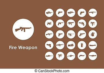 Set of firearms simple icons - It is a set of firearms...