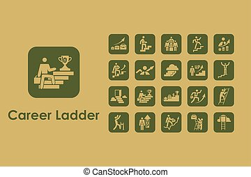 Set of career ladder simple icons - It is a set of career...