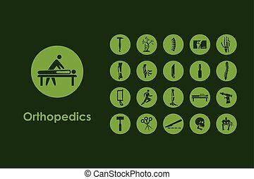 Set of orthopedics simple icons - It is a set of orthopedics...