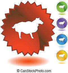 Sheep Starburst Icon Set