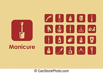 Set of manicure simple icons - It is a set of manicure...