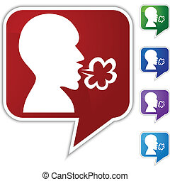 Illness Speech Balloon Icon Set