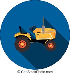 flat icon tractor in vector format eps10
