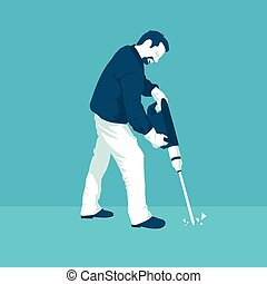 man with a jackhammer