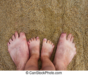 Feet on Sand Beach