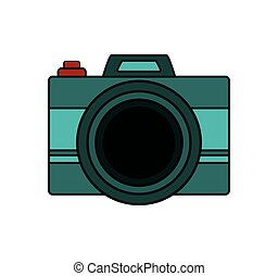 Isolated camera device design - Camera icon. Device gadget...
