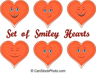 Valentine Holiday Hearts with Faces