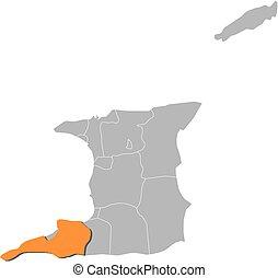 Map - Trinidad and Tobago, Siparia - Map of Trinidad and...