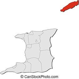 Map - Trinidad and Tobago, Tobago - Map of Trinidad and...