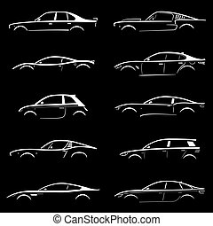 Set of Concept Car Silhouette