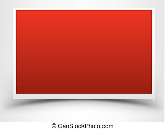 Red card with shadow design template. Vector illustration