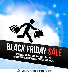 Black Friday sale design template. Shopping discounts...