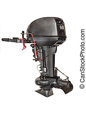 Outboard water-jet motor isolated on white background