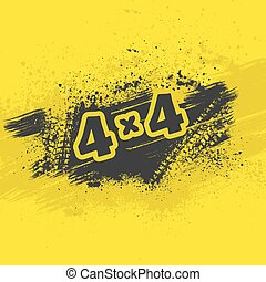 Grunge tire track wallpaper - Yellow and black background...