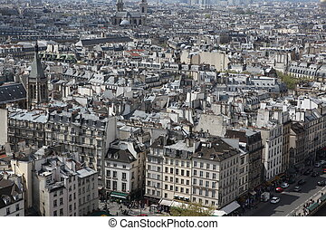 Paris view from  Notre Dame Cathedral, France