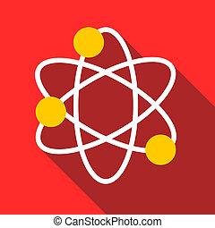 Physics icon, flat style - Physics icon. Flat illustration...