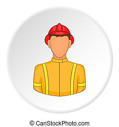 Firefighter icon, flat style - Firefighter icon. Flat...