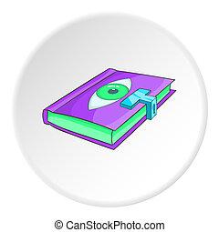 Magic book icon, isometric style - Magic book icon....