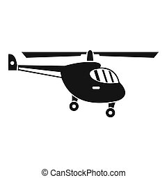 Helicopter icon, simple style - Helicopter icon. Simple...