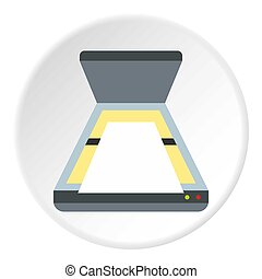 Scanner icon, flat style - Scanner icon. Flat illustration...