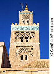 maroc africa and the blue - in maroc africa minaret and the...