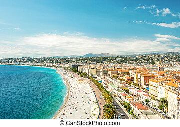 Nice, France, Promenade des Anglais Cote dAzur French...