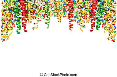 Streamer confetti Holidays carnival party serpentine...