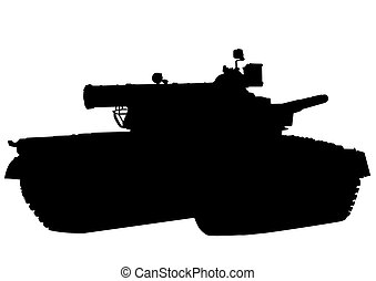 Big tank on white - Big military tank on white background
